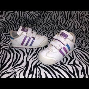 Adidas Iridescent Toddler Girl Shoes Size 9